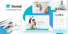 Dental Clinic - Dentist WordPress Theme Template Wordpress, Tema Wordpress, Wordpress Theme, Dental Surgeon, Dental Braces, Dental Care, Canal Radicular, Dental Doctor, Programming
