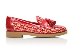 Tory Burch Careen Woven Color Loafer