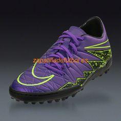 info for 0bee3 3f4e9 Descuento Zapatos de futbol Para Hombre Nike Hypervenom Phelon II TF Hyper  Uva Negro Voltio Nike