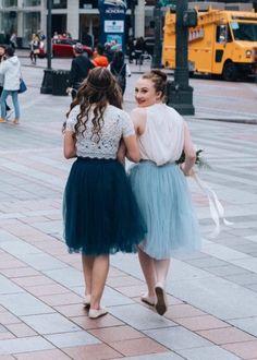 Custom Claire Soft Tulle Skirt - Midi - C'est Ça New York