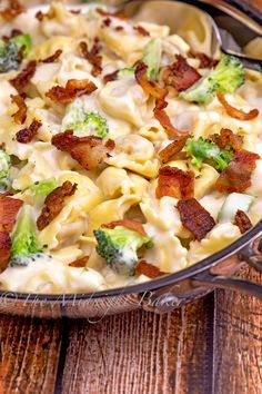 """""""Cheese tortellini are baked in a creamy, cheesy sauce for an easy and delicious weeknight dinner! This Creamy Chicken and Veggie Tortellini Casserole is a family-friendly way to get a wholesome and comforting one-dish meal on the table fast! Creamy Chicken Pasta, Chicken Tortellini, Asiago Chicken, Rosemary Chicken, Italian Casserole, Pasta Casserole, Casserole Recipes, Cheese Tortellini Recipes, Lasagna"""