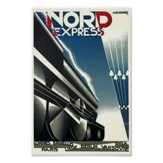 Nord Express Vintage travel Advertisement Poster - vintage gifts retro ideas cyo