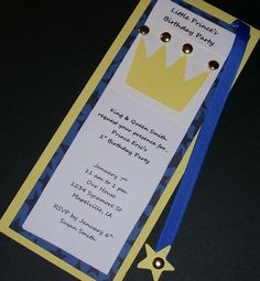 Little Prince Birthday Party Invitations Set of 10 by Sassadoodle, $20.00