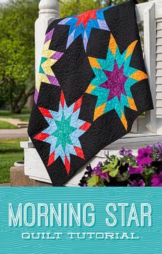 The Morning Star Quilt from Missouri Star Quilt Co. Watch the free quilt tutorial today. Beginner Quilt Patterns, Star Quilt Patterns, Quilting Tutorials, Quilting Projects, Quilting Designs, Msqc Tutorials, Texas Star, Star Quilt Blocks, Star Quilts