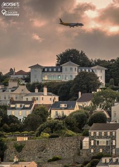 Aurigny's Flight GR607 coming into land over the St Peter Port skyline this evening #LocateGuernsey Link to the whole collection of 'Georgie's Guernsey':-http://chrisgeorge.dphoto.com/#/album/4daaes Picture Ref:16_09_17 — in Guernsey.