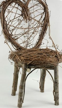 "Grapevine & Branch Chair (24"") With flowering vine!"
