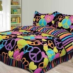 Pink Cookie Peace and Love Comforter Set, Twin by Pink Cookie, http://www.amazon.com/dp/B004UR3R18/ref=cm_sw_r_pi_dp_ZwjBrb0SWVM08