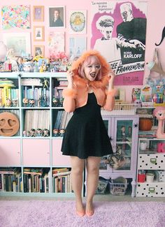 The orange hooded shrug! Quirky Fashion, Kawaii Fashion, Pastel Fashion, Teen Witch, Witch Outfit, Witch Fashion, Vintage Witch, Witch Aesthetic, Love Clothing