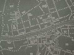 Beautiful Bloomsday map from Rachel Kerr at www.leopoldsday.com