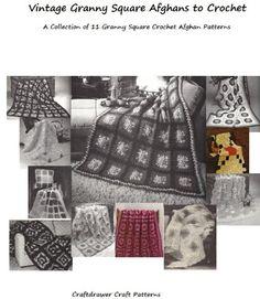 Vintage Granny Square Afghans to Crochet - Crochet Granny patterns crochet (Amazon Link)