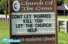 Let the Church Help funny picture