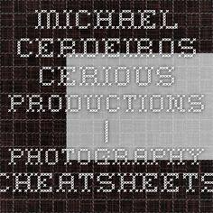 Michael Cerdeiros - Cerious Productions | Photography Cheatsheets