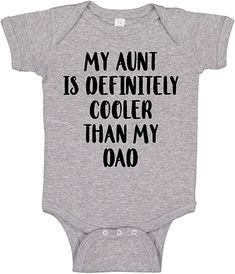 Aunt Baby Clothes, Aunt Onesie, Niece Quotes, Baby Lane, Goddaughter Gifts, Custom Baby Onesies, Dad Baby, My Little Baby, Niece And Nephew