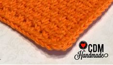Washcloth Series: Moss Stitch Crochet Washcloth