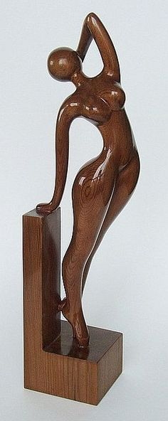 Jacob Weinstein  (born 1944, Volgograd) - Awakening, Cedar Wood carving