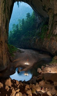 Son Doong Cave, Vietnam. The largest cave in the world.