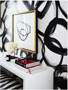 Patterned Walls brushstroke interlocking circles