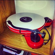 RPM 3.1 Genie turntable with Meshuggah white vinyl. #recordplayer #turntable #music http://www.pinterest.com/TheHitman14/the-record-player-%2B/