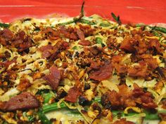 Creamy Green Bean Casserole with Bacon - Primal Docs Banting Recipes, Primal Recipes, Real Food Recipes, Cooking Recipes, Healthy Recipes, Healthy Snacks, Paleo Green Beans, Creamy Green Beans, Paleo Thanksgiving