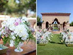 Spherical topiaries to decorative moss in shades of mint green and daintily tied bunches of herbs, the floral selection created a verdant setting. The branches of the petite Manzanita trees were entwined with garden roses, hydrangea, peonies, and cascading blossoms. Photos: Tec Petaja Photography. Wedding Coordinator: Amorology Weddings. Florals: Adorations Botanical Artistry.