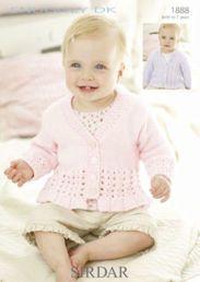Sirdar Snuggly DK Baby Girls Cardigan 1888