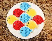 fish cookies - using a balloon cutter!
