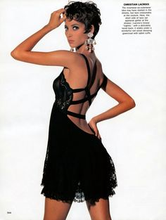 Christy Turlington wearing Christian Lacroix VOGUE October 1990 shot by Irving Penn