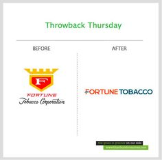 Do you still remember the old Fortune Tobacco Corporation logo?  New logo design by Bluethumb Creative Agency  www.bluethumbcreatives.com  #throwback #tbt #throwbackthursday #branding #logo #rebranding #creative #fortune #tobacco #brandidentity #identity #corporateidentity #transformation #idea #brand #inspiration