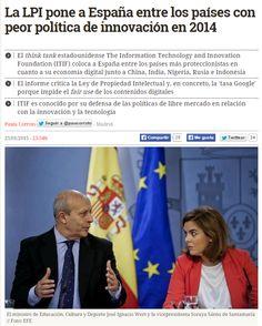 La LPI pone a España entre los países con peor política de innovación en 2014 / @diarioturing | #readytocopy #sci #tech #inn