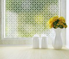 PureModern | Fleur Privacy Window Film (Adhesive)
