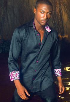 """Like"" this #Bertigo men's shirt? Find this Bertigo shirt it at www.FashionMenswear.com and www.GiovanniMarquez.com"