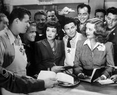 "Jack Carson, Jane Wyman, John Garfield, Bette Davis– ""Hollywood Canteen"""