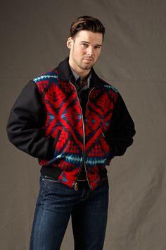 Bomber Jackets for Men & Women, Pendleton ® Harding Black Fabric Jacket