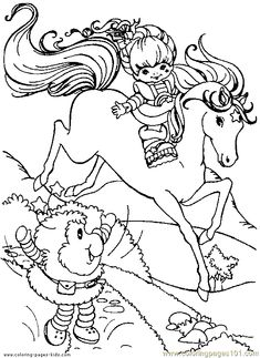Rainbow Brite 999 Coloring Pages Crafty 80s Rainbow Brite