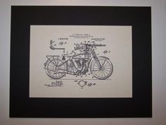 Perry & Perry Mounting for Rapid Fire Guns and the Like 1918 Patent Drawing Motorcycle