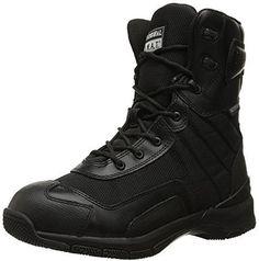 "Original S.W.A.T. Men's H.A.W.K. 9"" Side Zip Mens EN Men's black Military & Tactical Boot"