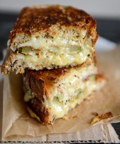 How Sweet It Is - Crispy Zucchini Grilled Cheese with Dijon Horseradish Aioli. (Included tips to make a healthier version too.)