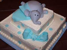 Elephant Baby Shower Cake | elephant baby shower cake