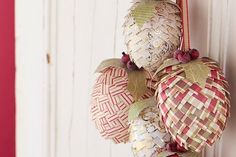 How to make paper pine cone decorations #diy #craft