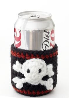 Pirate Can Cozy.... looking for a basic pattern for a glass cozy,  would leave the skull off.... :)