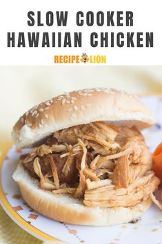 This easy slow cooker Hawaiian chicken is perfect for your next tropical party (or any weeknight! Slow Cooker Desserts, Slow Cooker Recipes, Crockpot Recipes, Chicken Recipes, Hawaiian Chicken, Low Sodium Soy Sauce, Tropical Party, Yum Yum Chicken, Slow Cooker Chicken
