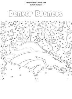 Denver Broncos Coloring Page Fun Times Broncos Football