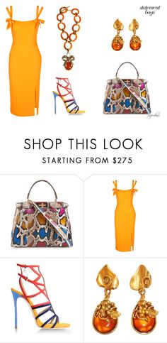 """""""Statement Bag"""" by kazemkina on Polyvore featuring Fendi, Rebecca Vallance, Dsquared2 and Emanuel Ungaro"""