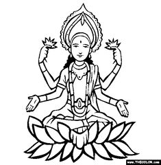 Diwali Images to Color Monster Coloring Pages, Bible Coloring Pages, Coloring Pages To Print, Coloring Pages For Kids, Coloring Books, Hinduism Symbols, Sacred Symbols, Indiana, Early Education