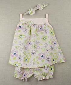 This Pastel Floral Sundress Set - Infant by Voila Fancies is perfect! #zulilyfinds