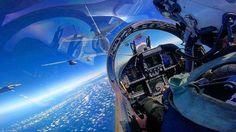 Reabastecimiento en vuelo sobre el Pacífico. (Foto: Tyler Benton)