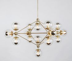 Modo chandelier 15 globes brass clear by Roll & Hill | General lighting