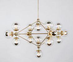 Modo chandelier 15 globes brass clear by Roll & Hill   General lighting