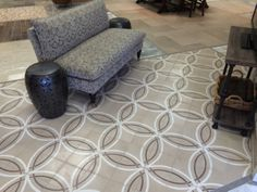 Concrete Tile Float-colorway 2 installed in our Chantilly VA Showroom.  www.architecturalceramics.com