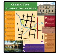 Campbell Town Riverbank Precinct Walks - Four beautiful walks around the historic town of Campbell Town, Tasmania.  On these walks you will discover many historic buildings and features including the Convict Brick Trail.